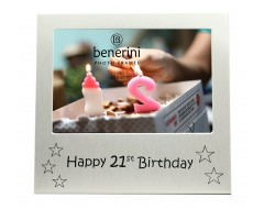 "Happy 21st Birthday Photo Frame - 5 x 3.5"" (13 x 9 cm)"