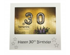 "Happy 30th Birthday Photo Frame - 5 x 3.5"" (13 x 9 cm)"
