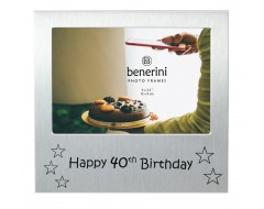 "Happy 40th Birthday Photo Frame - 5 x 3.5"" (13 x 9 cm)"