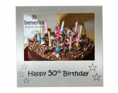 "Happy 50th Birthday Photo Frame - 5 x 3.5"" (13 x 9 cm)"