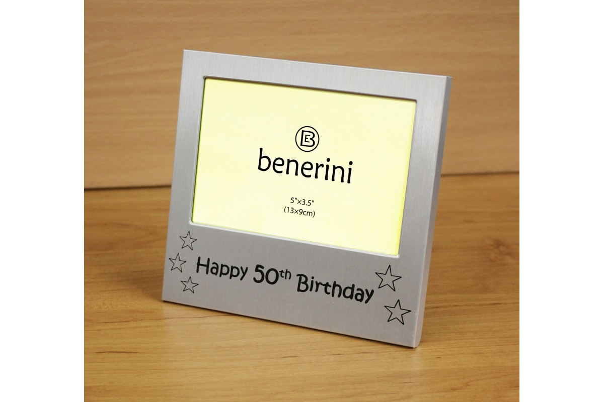 Happy 50th Birthday Photo Frame Gift Present Benerini