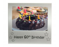 "Happy 60th Birthday Photo Frame - 5 x 3.5"" (13 x 9 cm)"