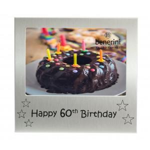 "Happy 60th Birthday Photo Frame - 5 x 3.5"" (13 x 9 cm)"
