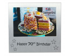 "Happy 70th Birthday Photo Frame - 5 x 3.5"" (13 x 9 cm)"