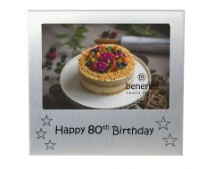 "Happy 80th Birthday Photo Frame - 5 x 3.5"" (13 x 9 cm)"