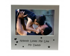 "Nobody Loves Me Like My Daddy Photo Frame - 5 x 3.5"" (13 x 9 cm)"