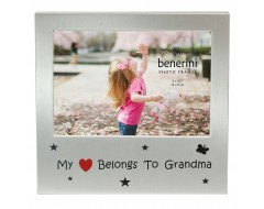 "My Heart Belongs To Grandma Photo Frame - 5 x 3.5"" (13 x 9 cm)"