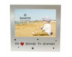 "My Heart Belongs To Grandad Photo Frame - 5 x 3.5"" (13 x 9 cm)"