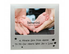 "A Miracle Sent From Above Photo Frame - 5 x 3.5"" (13 x 9 cm)"
