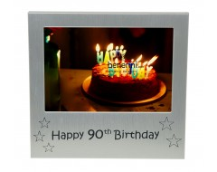 Happy 90th Birthday Photo Picture Frame Keepsake Gift for Grandma Grandad Daddy