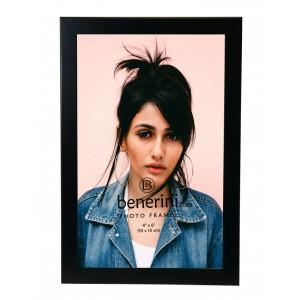"4 x 6 "" Satin Black Colour Brushed Aluminium Photo Picture Frame Gift - Portrait or Landscape"