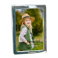 "4 x 6 "" Iron Nickel Plated Shiny Silver Colour Photo Picture Frame Gift - Portrait or Landscape"