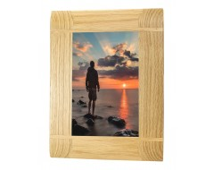 Natural Oak Wooden Picture Photo Frame - Portrait or Landscape - 4 x 6 inches