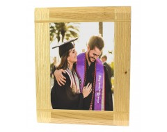 Natural Oak Wooden Picture Photo Frame - Portrait or Landscape - 6 x 8 inches