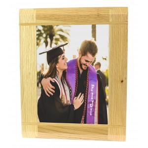 Natural Oak Wooden Picture Photo Frame - Portrait or Landscape - 6 x 8 inches